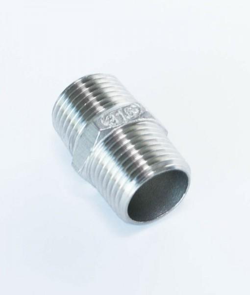 Stainless Steel BSP Hex Nipple